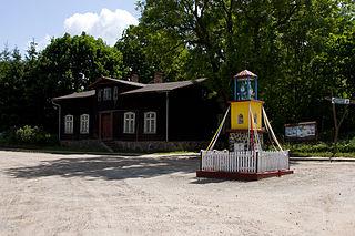 Małe Leźno Village in Kuyavian-Pomeranian, Poland