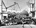 Maastricht, werkwilligen tijdens Zinkwitstaking, 1929.jpg
