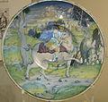 Maestro giorgio di gubbio, piatto con cavaliere con stendardo, 1525.JPG