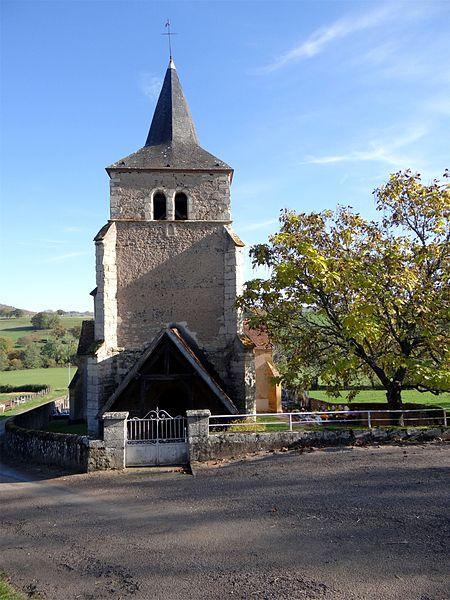 L'église de la Sainte Trinité, Magny-Lormes, Nièvre, France.