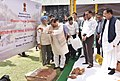 Mahesh Sharma and the Minister of State for Housing and Urban Affairs (IC), Shri Hardeep Singh Puri at the Bhoomi Poojan Ceremony of the Museum on the Prime Ministers of India, in New Delhi.JPG