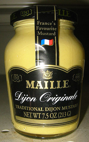 Dijon - A jar of Dijon mustard