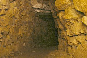 Tunnels in popular culture - Inside the main chamber of Halliggye Fogou, Trelowarren, Cornwall
