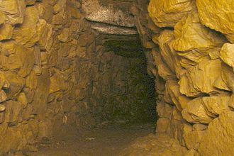 Fogou - Inside the main chamber of Halliggye Fogou, Trelowarren, Cornwall