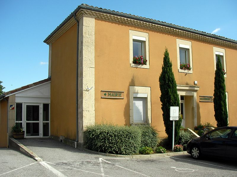 Town hall of Saint Romain de Lerps
