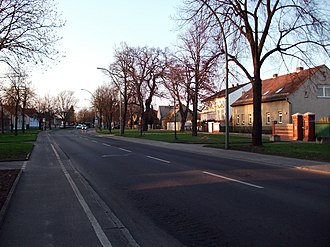 Malchow (Berlin) - View of the Dorfstraße