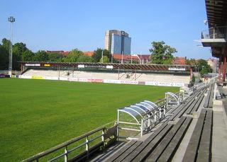 Malmö IP stadium in Malmö, Sweden