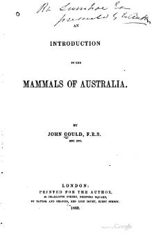 Mammals of Australia (Gould), introduction.djvu