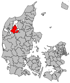Skive Municipality - Map of the new municipality
