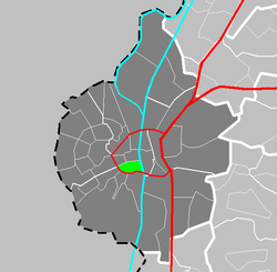 Location of Jekerkwartier in Maastricht