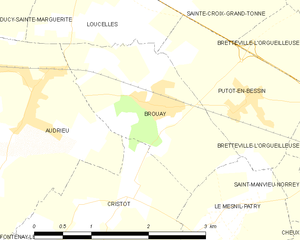 Battle of Le Mesnil-Patry - Image: Map commune FR insee code 14109