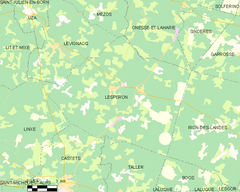 Map commune FR insee code 40152.png