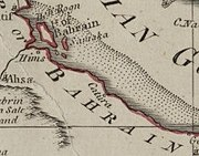 Map of Catura (Qatar) 1794 (cropped)