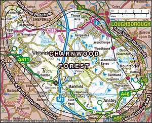 Charnwood Forest - Charnwood Forest, as defined by Natural England