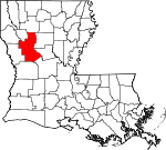 State map highlighting Natchitoches Parish
