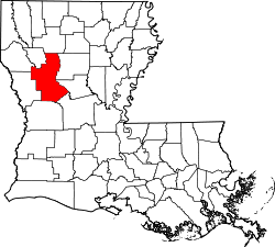 map of Louisiana highlighting Natchitoches Parish