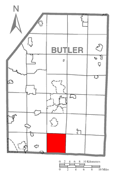 Map of Middlesex Township, Butler County, Pennsylvania Highlighted.png