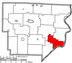 Location of Lee Township in Monroe County