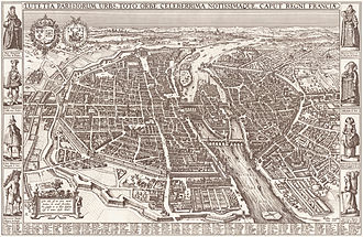 Claes Jansz. Visscher - Image: Map of Paris by Claes Jansz. Visscher Harold B. Lee Library
