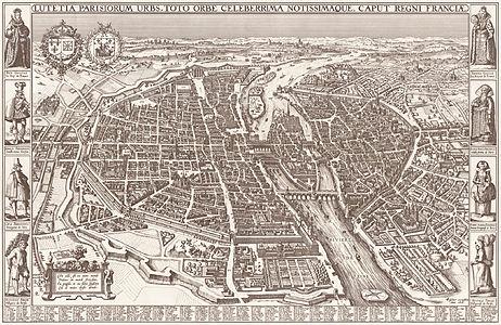 Map of Paris by Claes Jansz. Visscher - Harold B. Lee Library.jpg