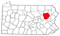 Map of Pennsylvania highlighting Luzerne County.png