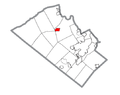 Map of Schnecksville, Lehigh County, Pennsylvania Highlighted.png