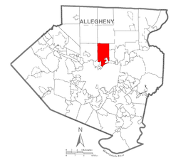 Map of Shaler Township, Allegheny County, Pennsylvania Highlighted.png