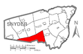 Map of Snyder County, Pennsylvania Highlighting West Perry Township.PNG