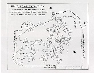 New Territories - A map of the leased New Territories and New Kowloon during the 1898 Convention for the Extension of Hong Kong Territory