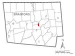 Map of Towanda, Bradford County, Pennsylvania Highlighted.png