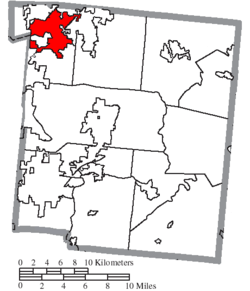 Location of Franklin in Warren County