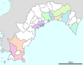 Map of cities of Kochi prefecture.png