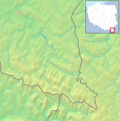 Mapa lokalizacyjna Bieszczadów Zachodnich