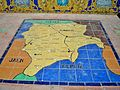 Mapa de la Provincia de Albacete en la Plaza de España de Sevilla.JPG