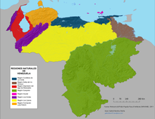 Venezuela Wikipedia - Venezuela cities small scale map