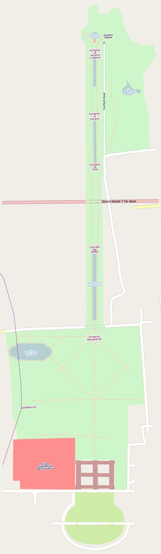 Mappa Reggia di Caserta