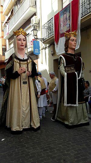 Gigantes y cabezudos -  Gegants at La Mare de Déu de la Salut Festival from Algemesí.