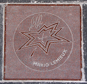 Canada's Walk of Fame - Mario Lemieux's star