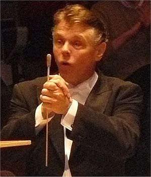 Mariss Jansons receives applause after a perfo...