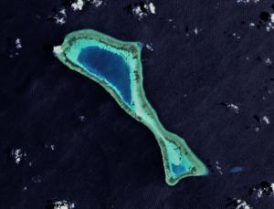 Mariveles Reef - Satellite image of Mariveles Reef by NASA.