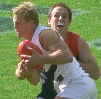 Mark Johnson (footballer) - Mark Johnson while playing in his final season with Fremantle