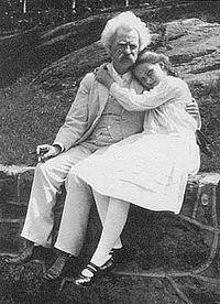 Mark Twain and Dorothy Quick.JPG