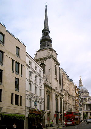 St Martin, Ludgate - St Martin, Ludgate (with St Paul's in the background, right)