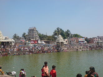 Kumbakonam - Mahamaham tank – one of the most prominent landmarks of the town