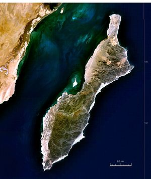 Masirah Island - Satellite image of Masirah
