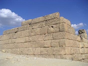 Restos de una mastaba en Giza