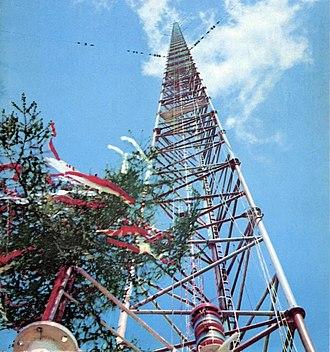 Topping out - Image: Maszt radiowy w Konstantynowie