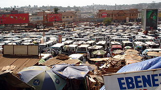 Matatu - The Old Taxi Park, Kampala, Uganda.