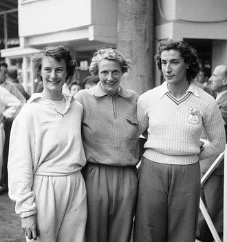 Maureen Gardner - Maureen Gardner, Fanny Blankers-Koen and Micheline Ostermeyer – the 80 m hurdle medalists of the 1950 European Championships
