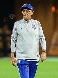 Maurizio Sarri at Baku before 2019 UEFA Europe League Final.jpg